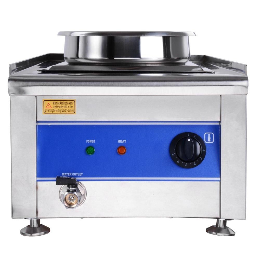 Commercial Food Warmer Portable Steam Table Countertop 2 Pots Soup Station