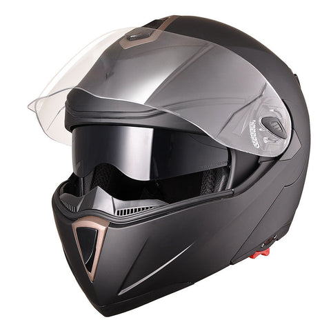 Image of Matte Black Motorcycle Helmet