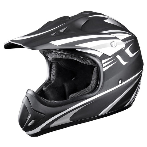 Image of Black Dirt Bike Helmet