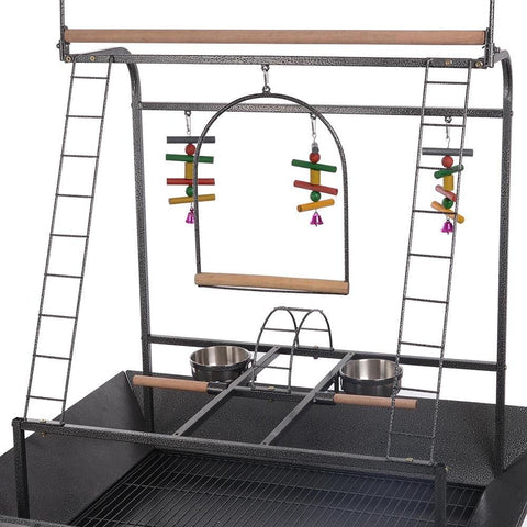 Image of Birdcage Gym Perch on Wheels