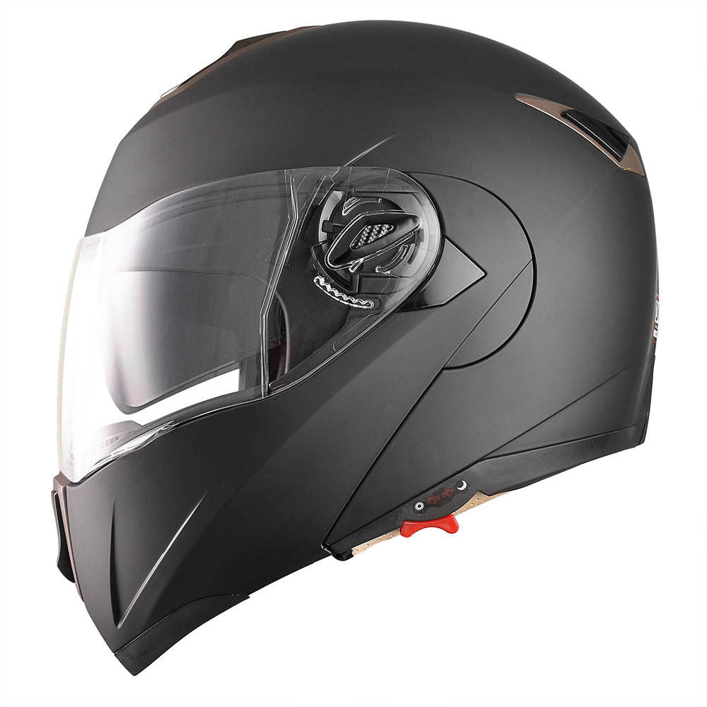 Matte Black Motorcycle Helmet