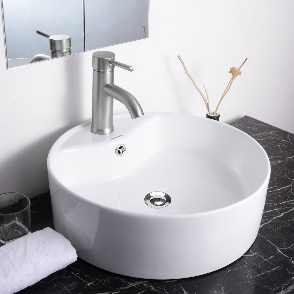 Vanity Sink with Drain - Round