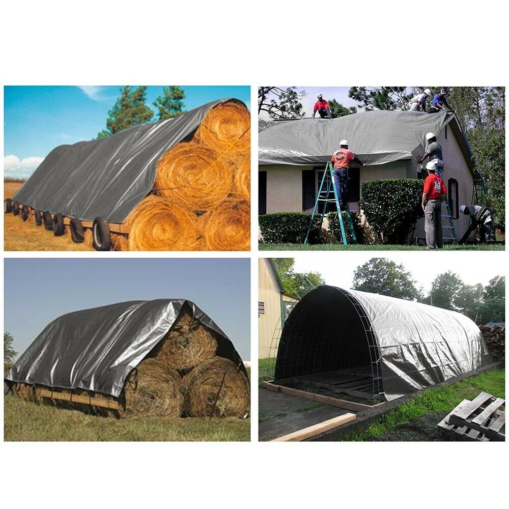 10mil Heavy Duty Canopy Poly Tarp Reinforced Tent Car Boat Cover Tarpaulin