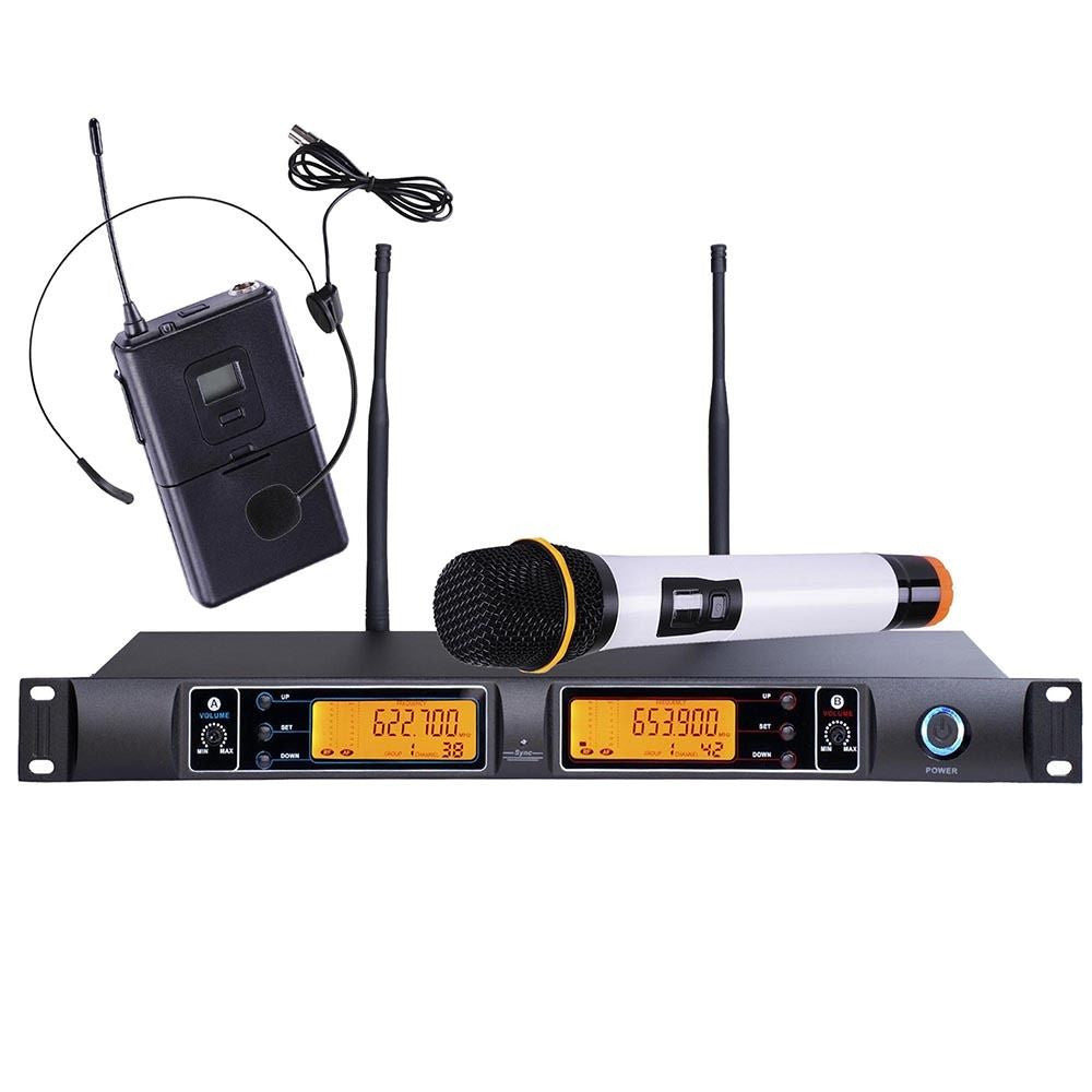 Dual Wireless Mic/Lapel Kit