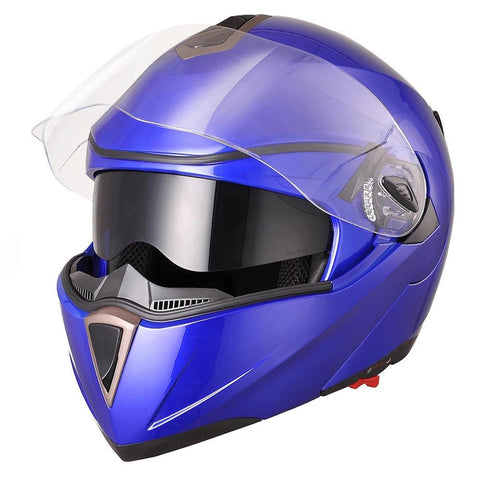Image of Blue Motorcycle Helmet