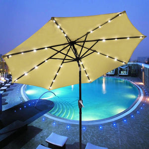9' Light Patio Umbrella w/Aluminum Pole