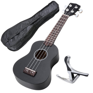 Soprano Ukulele Kit - Black