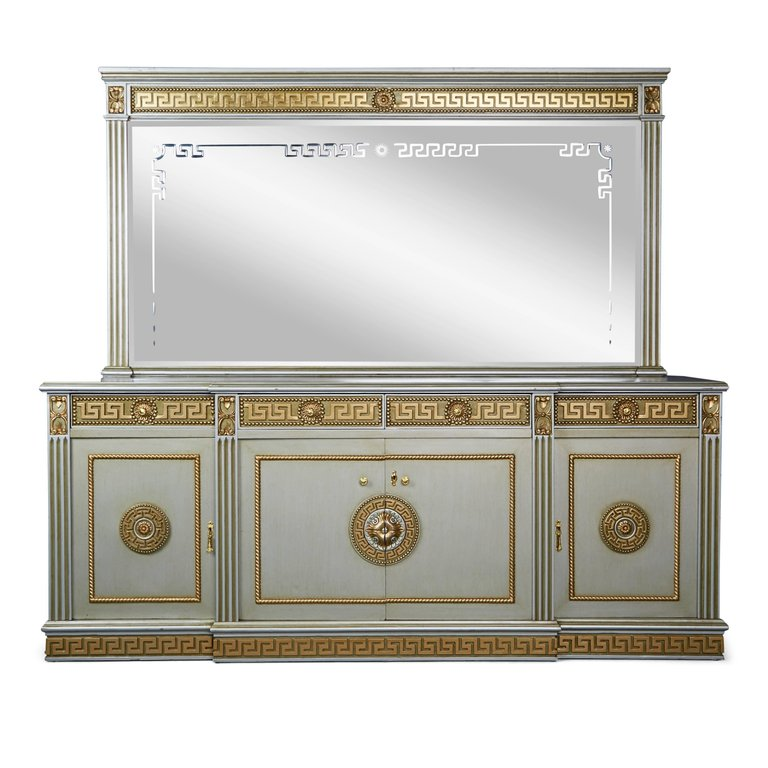 Greek Revival Modernist Server with Mirror, circa 1970