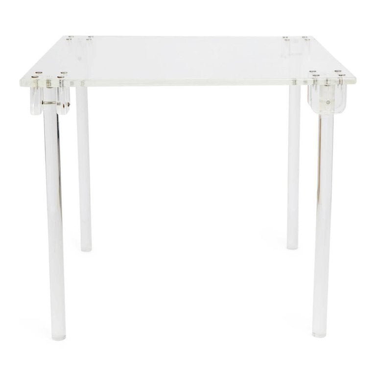 *SOLD* Charles Hollis Jones Lucite Fold-Away Games Table, Restored, circa 1970