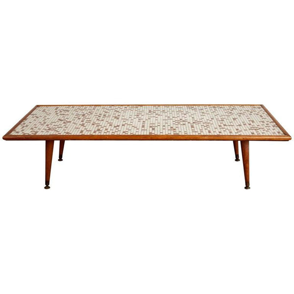 Mid-Century Modern Tile-Top Coffee Table, circa 1960