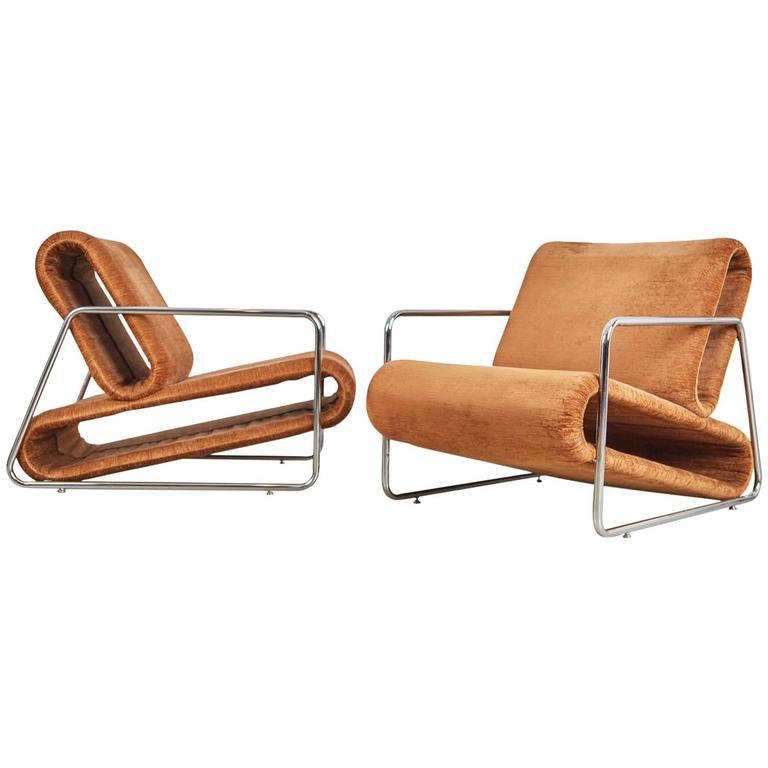 *SOLD* Percival Lafer Prototype Lounge Chairs from Brazil, circa 1970