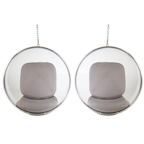 *SOLD* Eero Aarnio Hanging Bubble Chairs, Pair (2) by Adelta