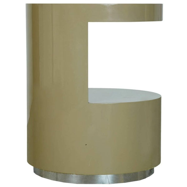 Lacquered Cut-Out Side Table by Steve Chase from Chase Designed Home