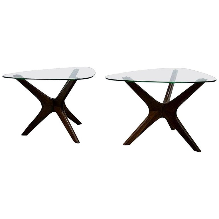 "Adrian Pearsall ""Jack"" Side Tables for Craft Associates, Pair, circa 1960"