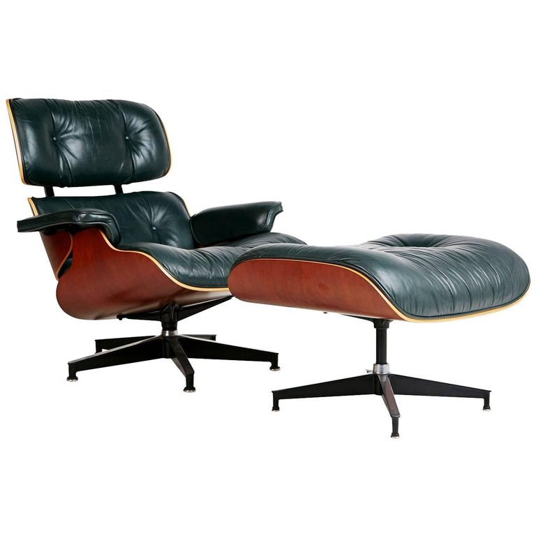 Charles & Ray Eames Lounge Chair and Ottoman Model 670 & 671 for Herman Miller