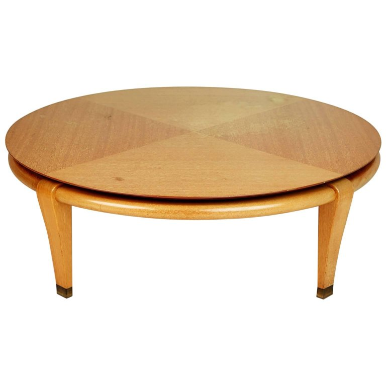 Paul Laszlo for Brown Saltman Round Coffee Table, Model 145, circa 1950