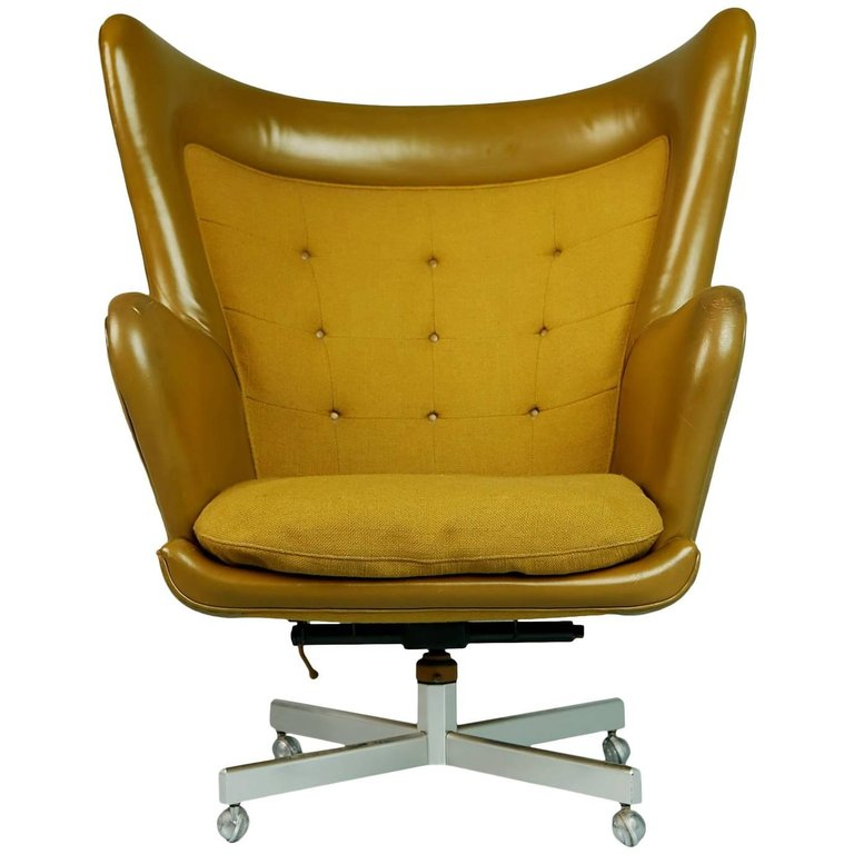 Dramatic Executive Wingback Chair by George Kasparian, circa 1960
