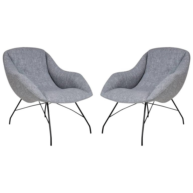Martin Eisler and Carlo Hauner Scoop Chairs for Forma, Brazil, circa 1960
