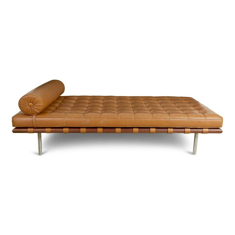 Barcelona Daybed by Mies Van Der Rohe for Knoll International, Date Stamped 1977