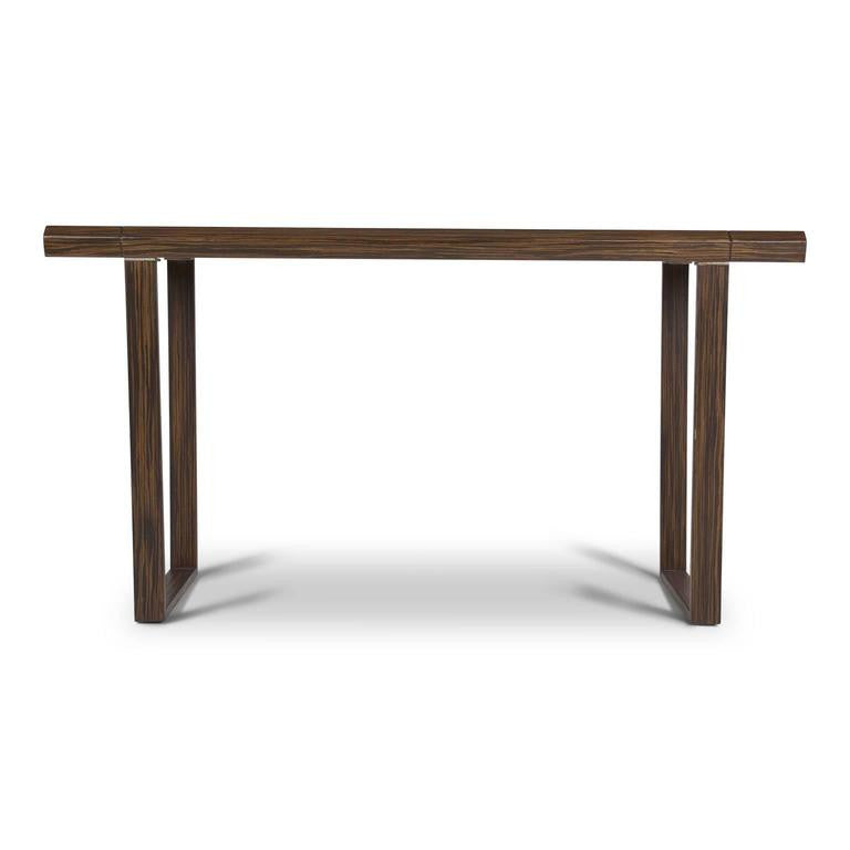 Macassar Wood Console Table, Circa 1970