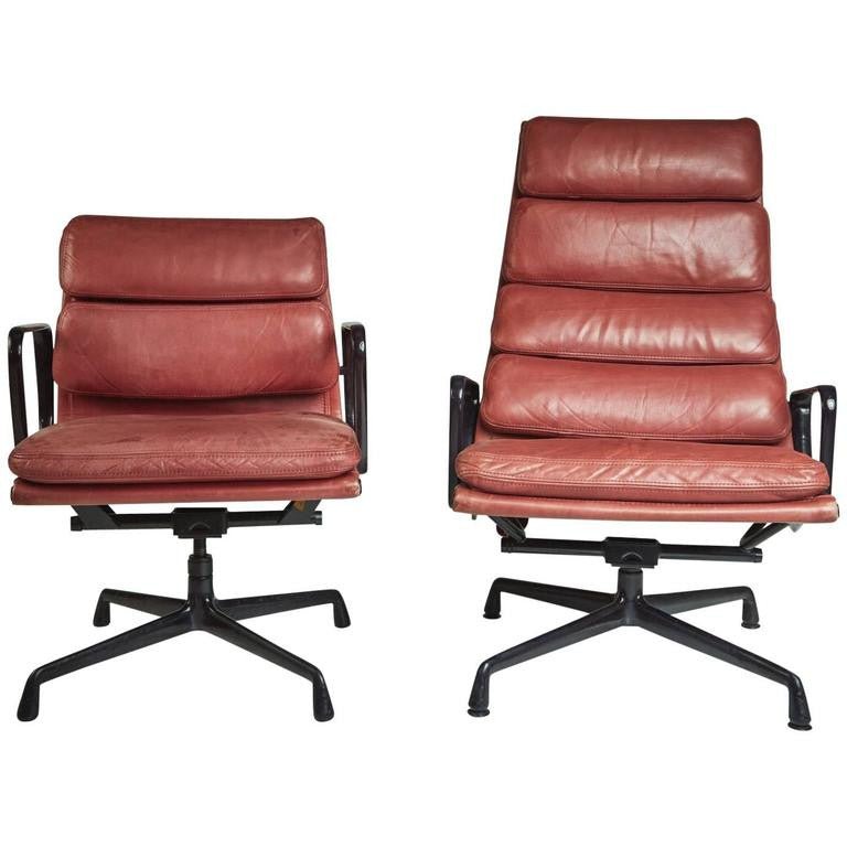 Soft Pad Management and Executive Desk Chairs by Charles Eames for Herman Miller