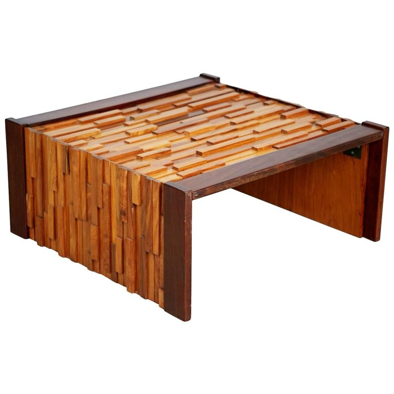 Percival Lafer Exotic Wood Coffee Table for L'atelier De Sao Paulo, Brazil