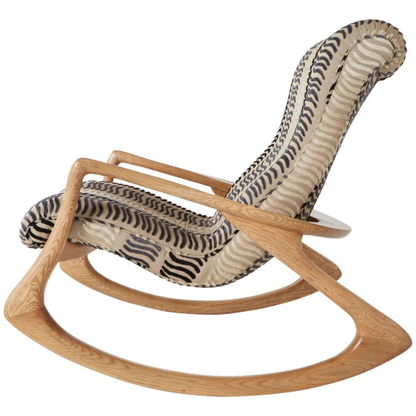*SOLD* Vladimir Kagan 'Contour' Rocking Chair, Rare Oak, 1960s