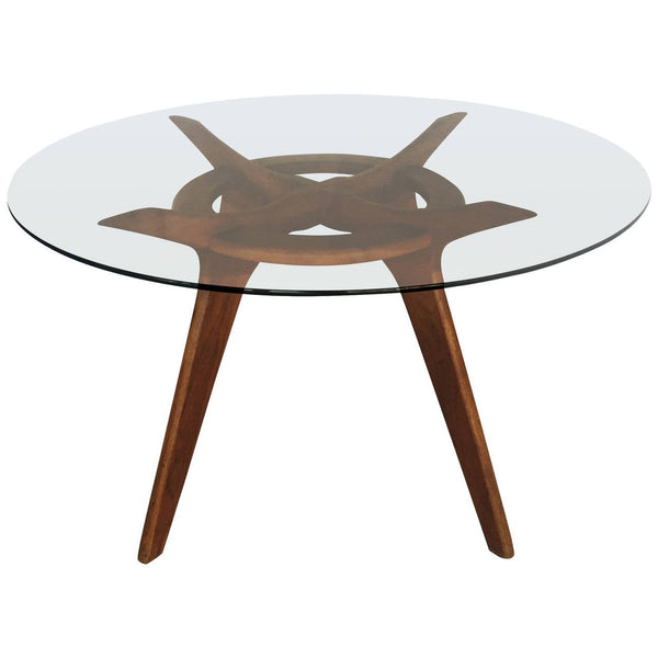 *SOLD* Adrian Pearsall for Craft Associates Glass Top Dining Table