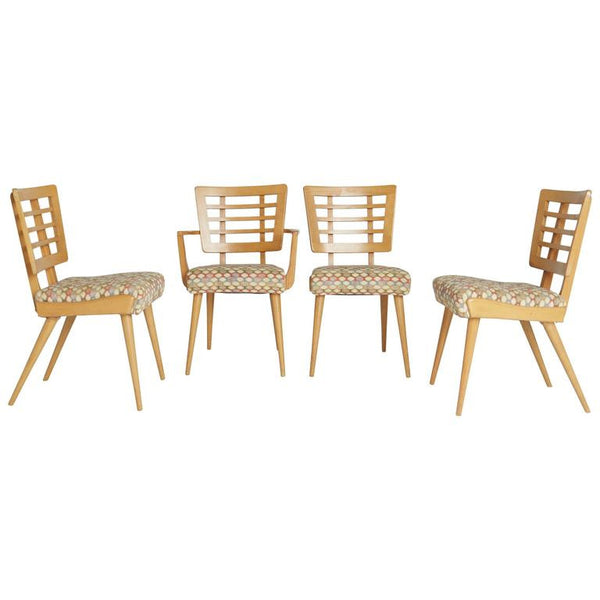 *SOLD* 1950s American Modern Maple Dining Chairs