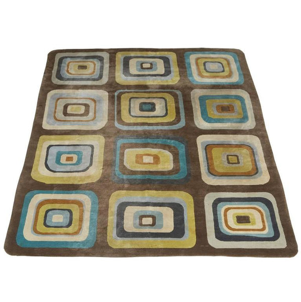 Angela Adams Geometric Custom Designed Wool Area Rug, circa 2000
