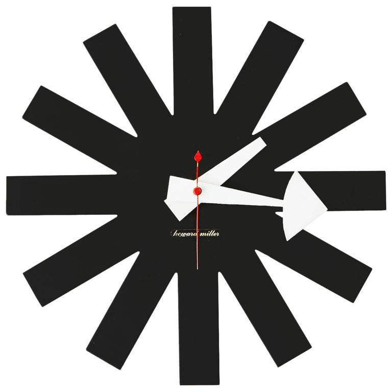 *SOLD* Asterisk Clock by George Nelson for Howard Miller, Rare
