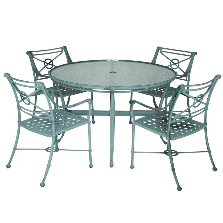 *SOLD* Brown Jordan Five-Piece Aluminum Patio Set