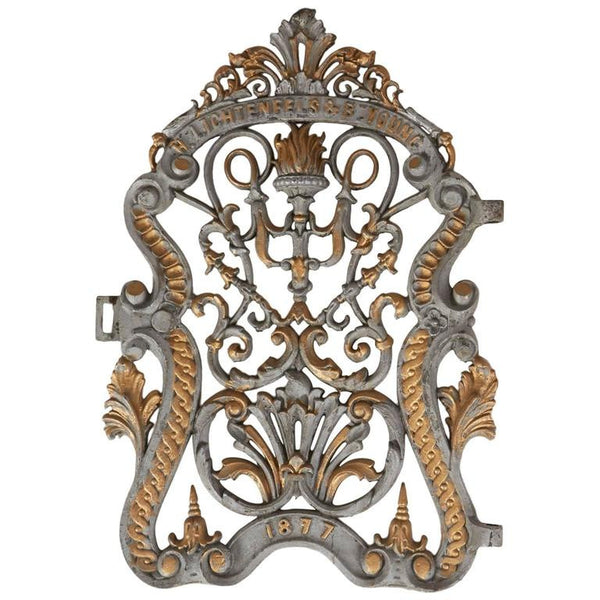 *SOLD* Architectural Cast Iron Gate Door from Lichtenfels and Young, Dated 1877