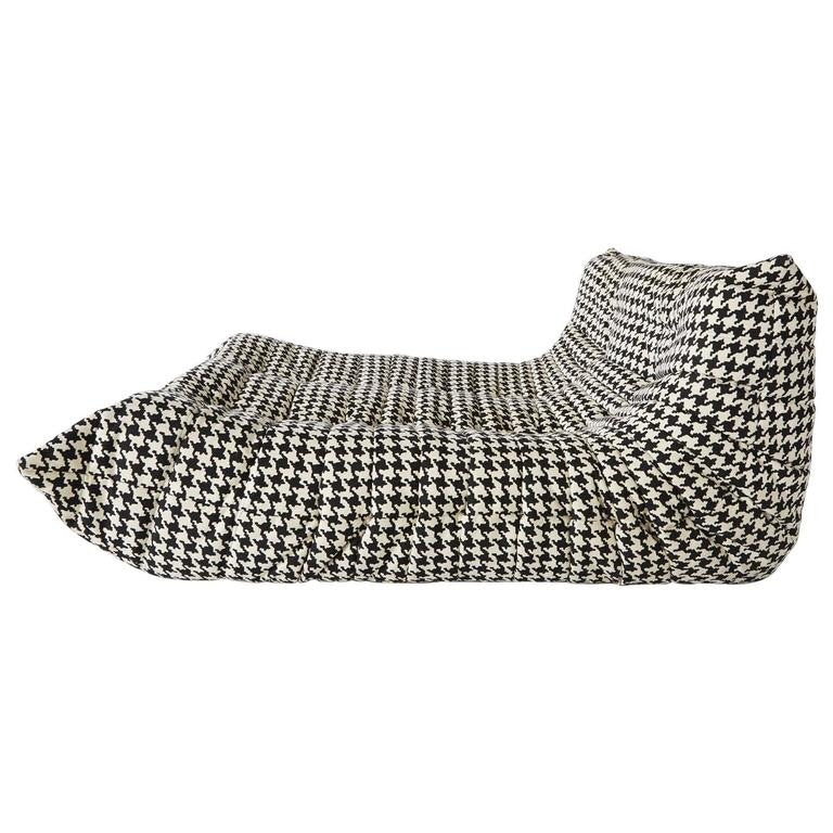 *SOLD* Alcantara Togo Chaise Lounge by Michel Ducaroy for Ligne Roset