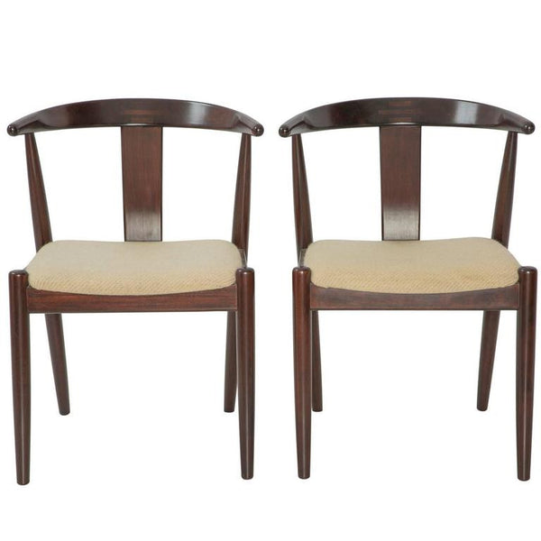 *SOLD* Pair of Dyrlund Danish Modern Arm Chairs