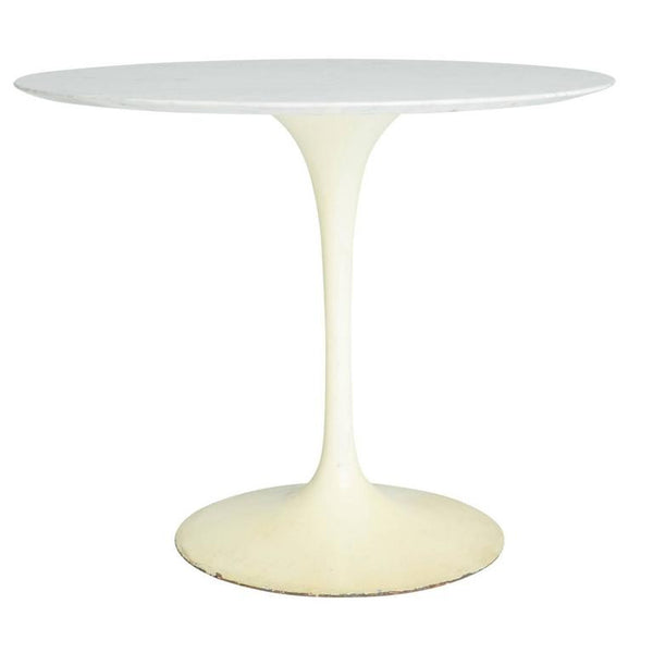*SOLD* Early White Marble 'Tulip' Dining or Cafe Table by Eero Saarinen for Knoll