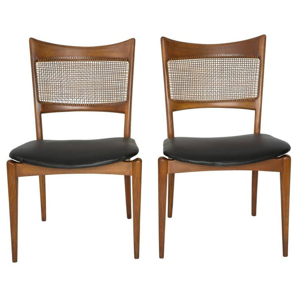 *SOLD* Pair of Edmund Spence Style Woven Back Chairs