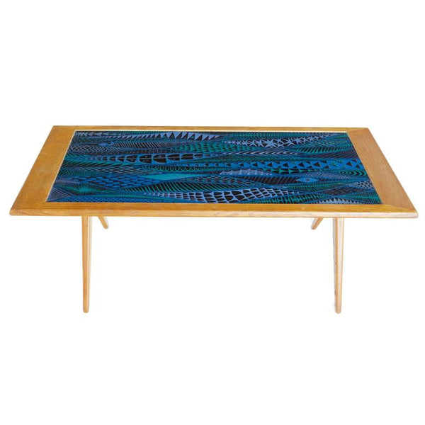 Enamel Coffee Table by Stig Lindberg and David Rosen for Nordiska Kompaniet
