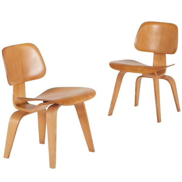 *SOLD* Evans Rare 1940s DCW Molded Plywood Chairs by Charles and Ray Eames