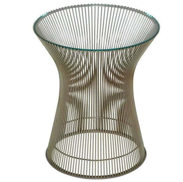 *SOLD* Early Warren Platner for Knoll International Side Table in Nickel