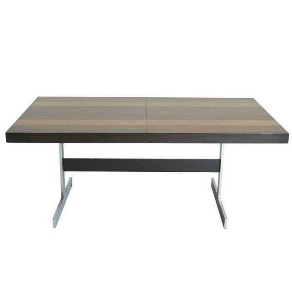Expandable Mixed Wood Dining Table by Milo Baughman for Directional
