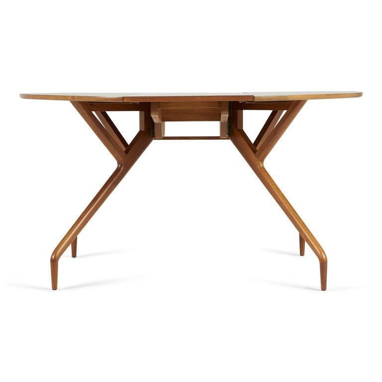 Greta Grossman Walnut Drop-Leaf Dining Table for Glenn of California, circa 1950