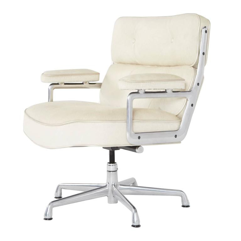 *SOLD* Hair-on Hide Time Life Lobby Chairs by Eames for Herman Miller