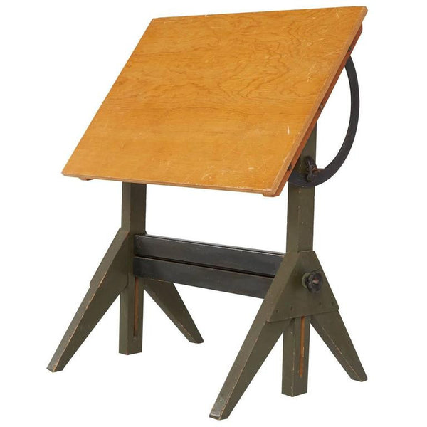 *SOLD* Industrial Maple Lietz Co. San Francisco Drafting Table, circa 1930