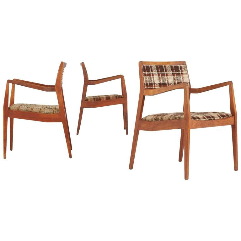 Jens Risom 'Playboy' Armchairs, Set of Three
