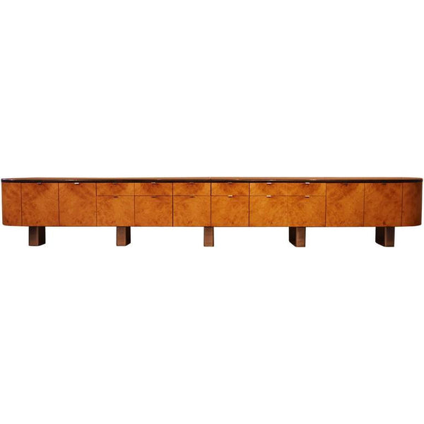 *SOLD* J. Wade Beam for Brueton, Ginormous Custom Burled Wood and Granite Credenza