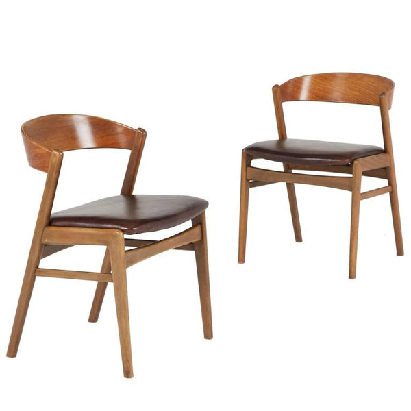 *SOLD* Kai Kristiansen Danish Modern Dining Side Chairs, Pair, circa 1960
