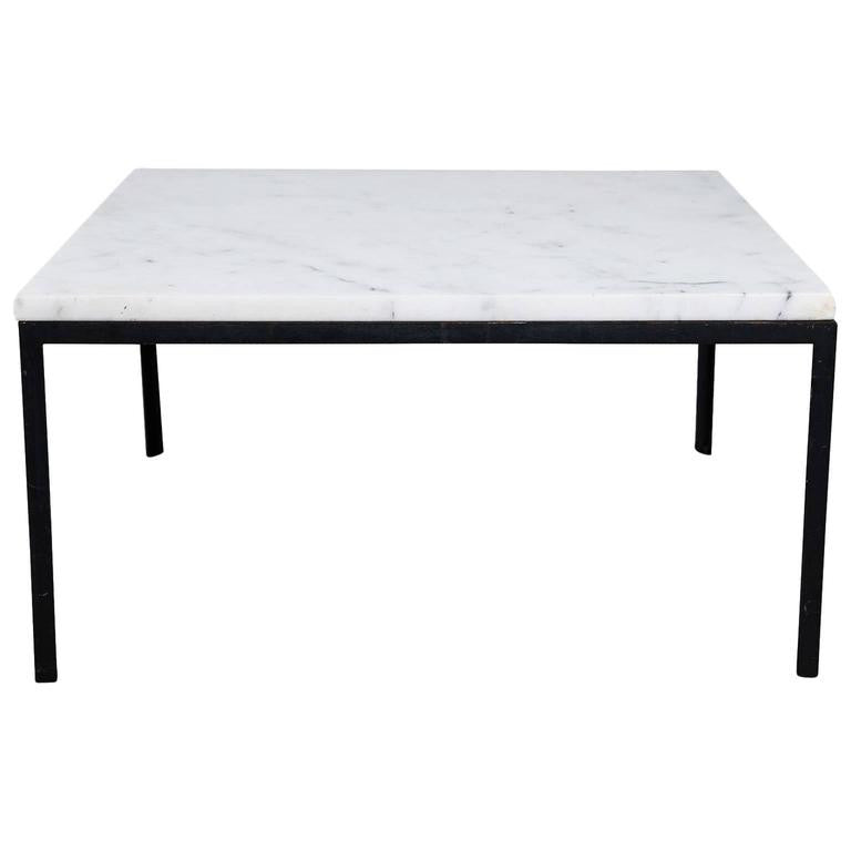 *SOLD* Florence Knoll Marble Top T-Angle Side Table for Knoll Associates, circa 1960
