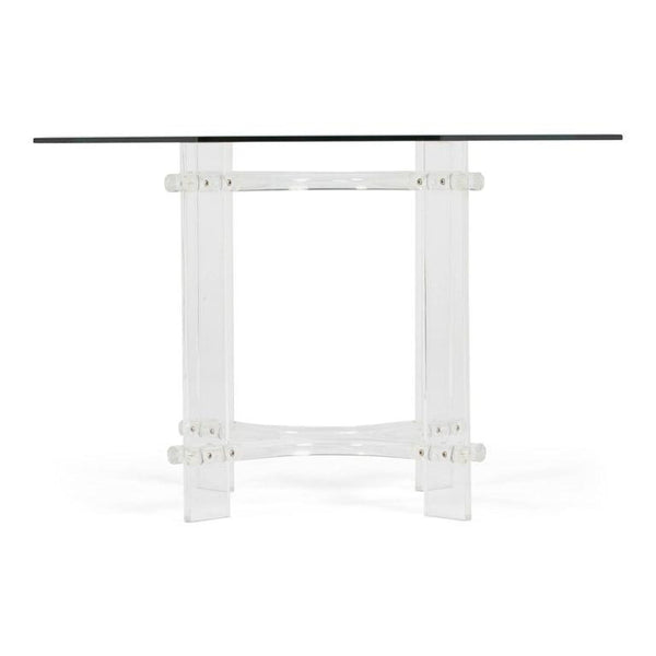 *SOLD* Charles Hollis Jones Style Lucite Octagon Dining Table, circa 1970