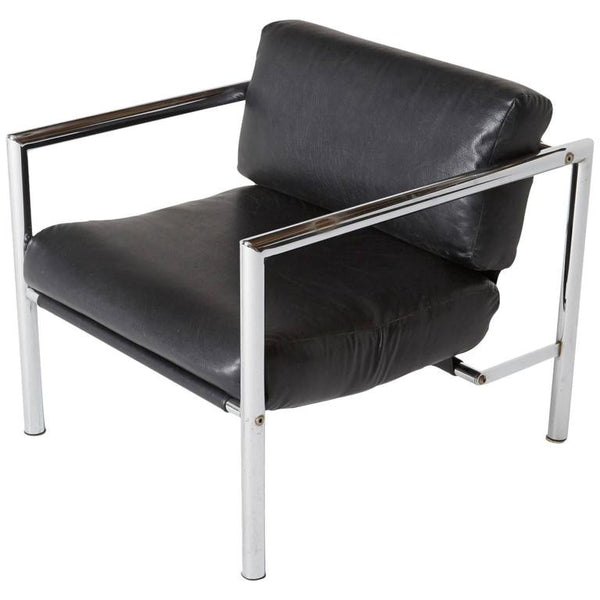 Martin Visser Style Modern Chrome Lounge Chair